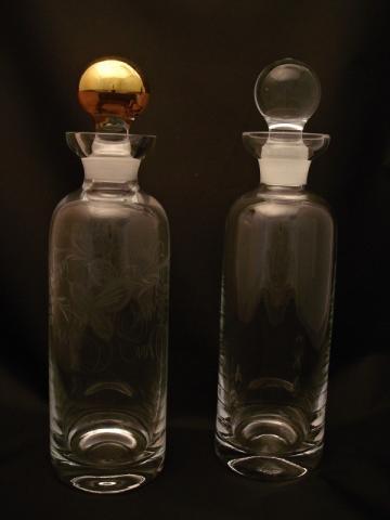 Ryté lahve, karafy a džbány
